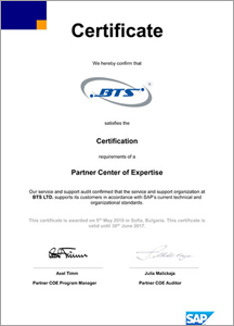 Partner Center of Expertise certificate